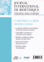 Journal International de Bioéthique 2007/3