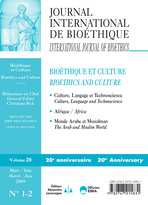 Journal International de Bioéthique 2009/1-2