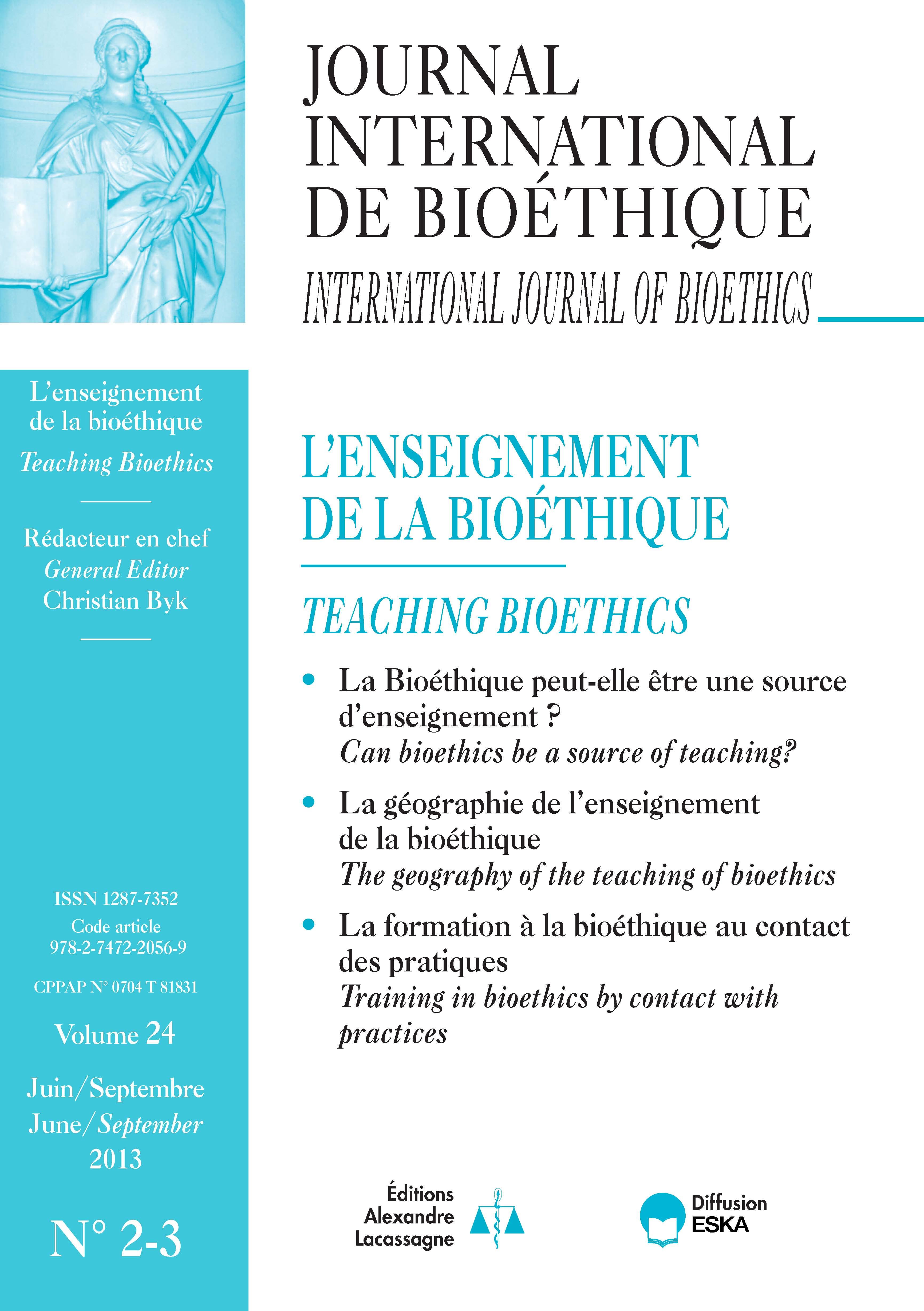Bioethics Bibliography