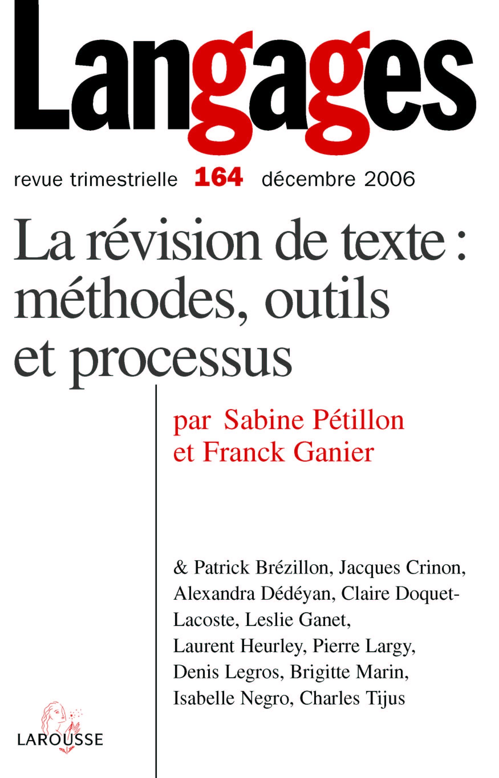La Revision De Textes Proceduraux Cairn Info