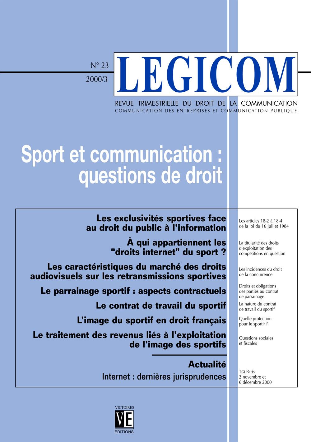Parrainage info Aspects Contractuels Sportif Cairn Le XSdCaxwUSq