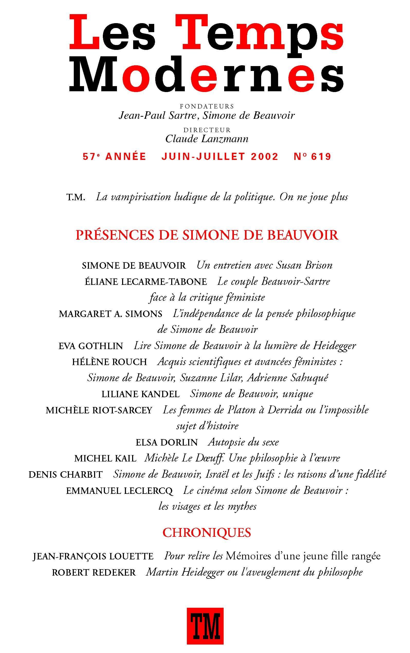 Simone BeauvoirLes Visages Mythes Et De Cinéma Selon Le K1cFTl3J