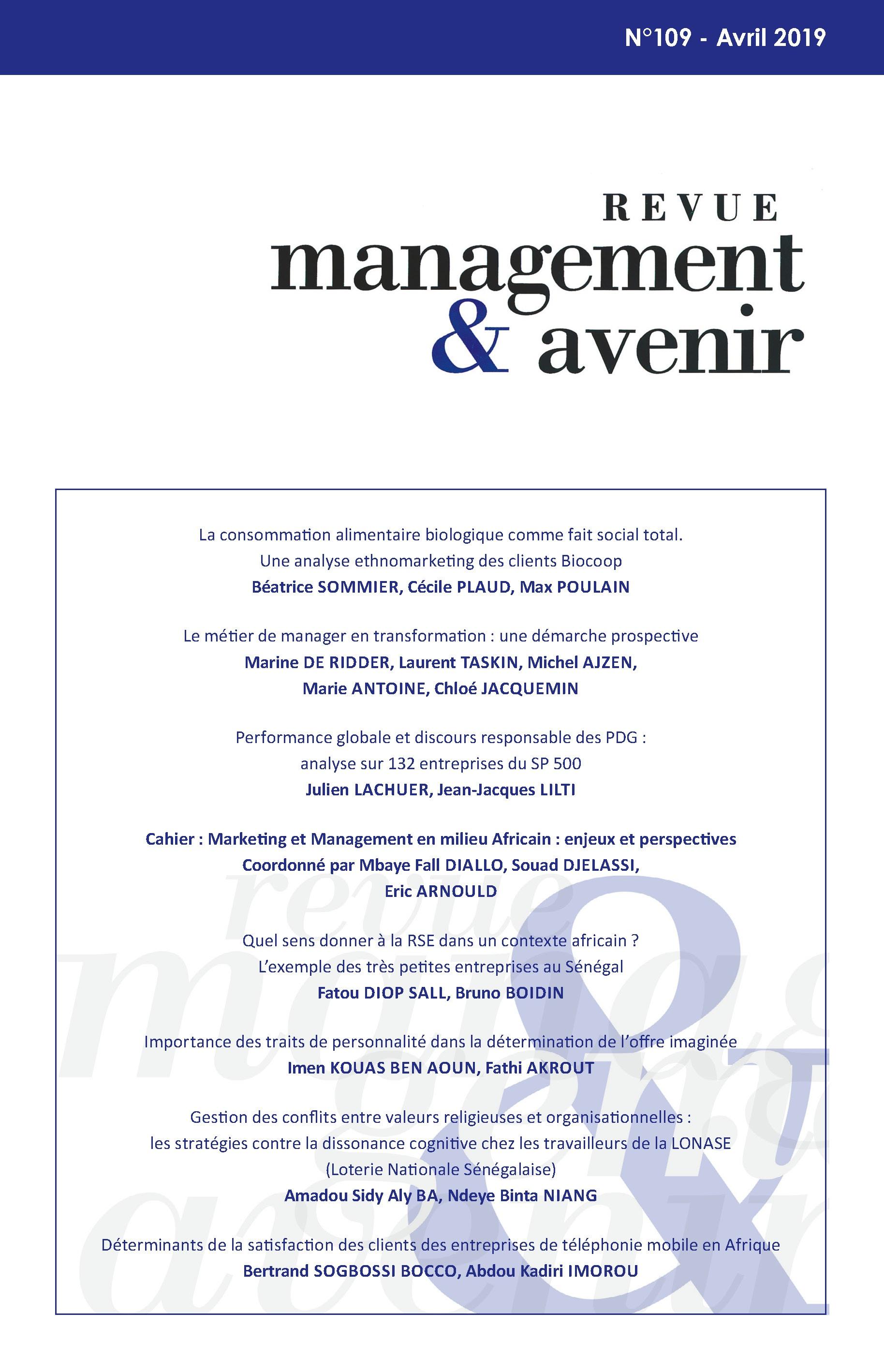 Le métier de manager en transformation : une démarche prospective