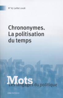 Mots. Les langages du politique 2008/2