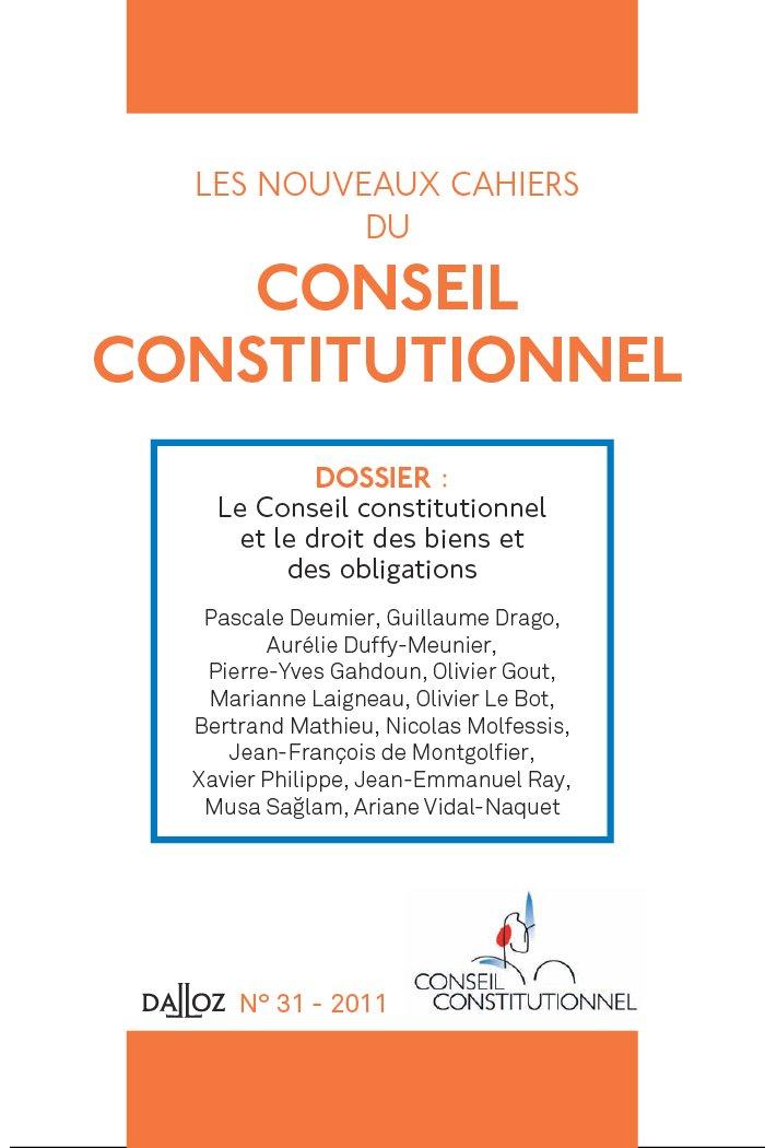 36cc86672bc Sur trois facettes de la jurisprudence du Conseil constitutionnel ...