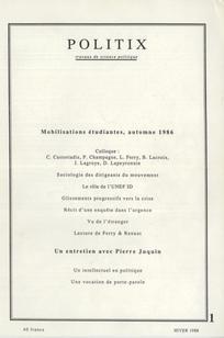Mobilisations étudiantes, automne 1986