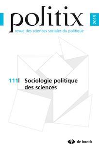 Sociologie politique des sciences