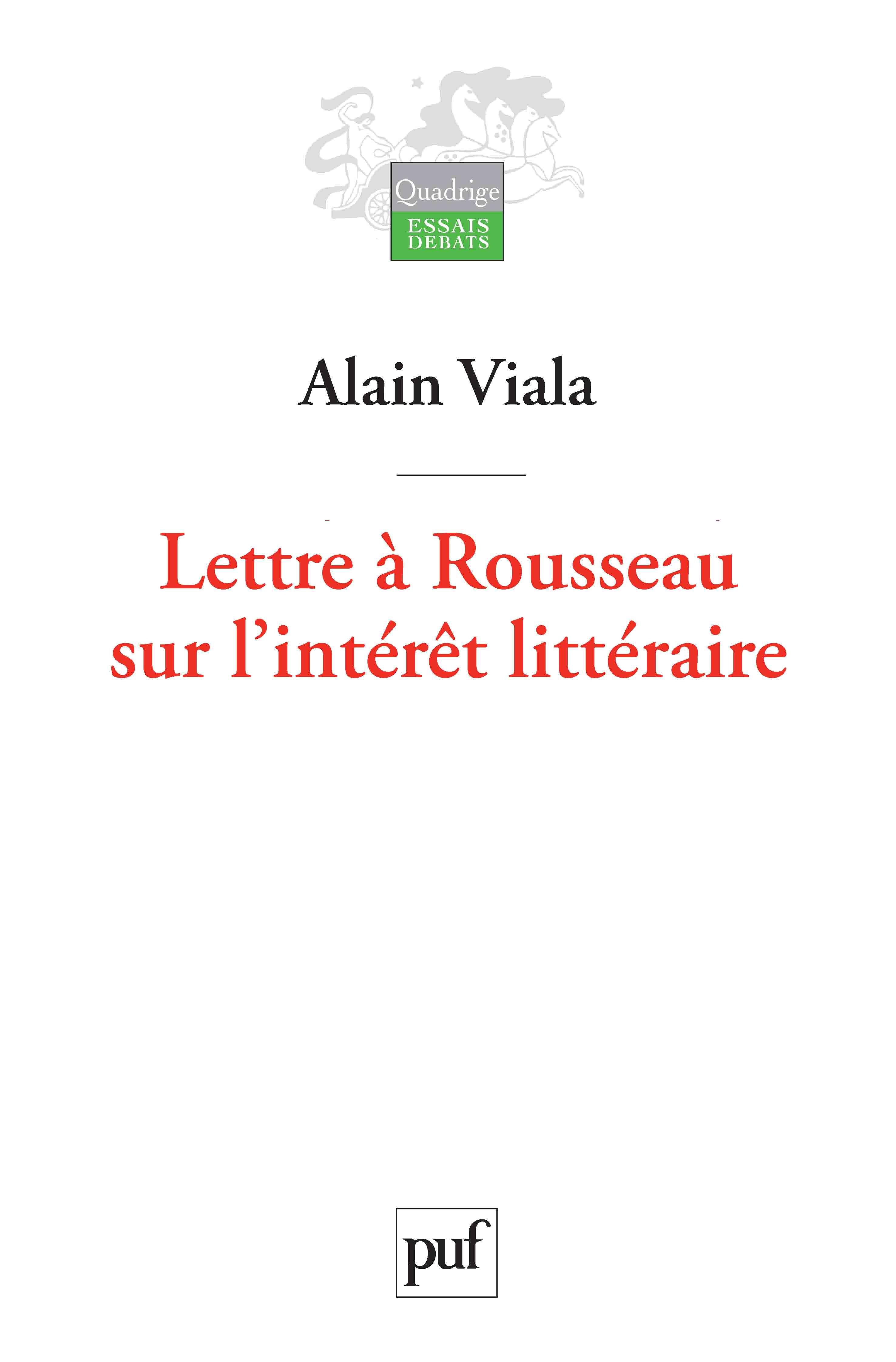 Boite Lumineuse Idee Message lettre à rousseau sur l'intérêt littéraire | cairn