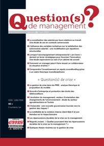 Vignette document Les  répercussions durables de la crise sur le management