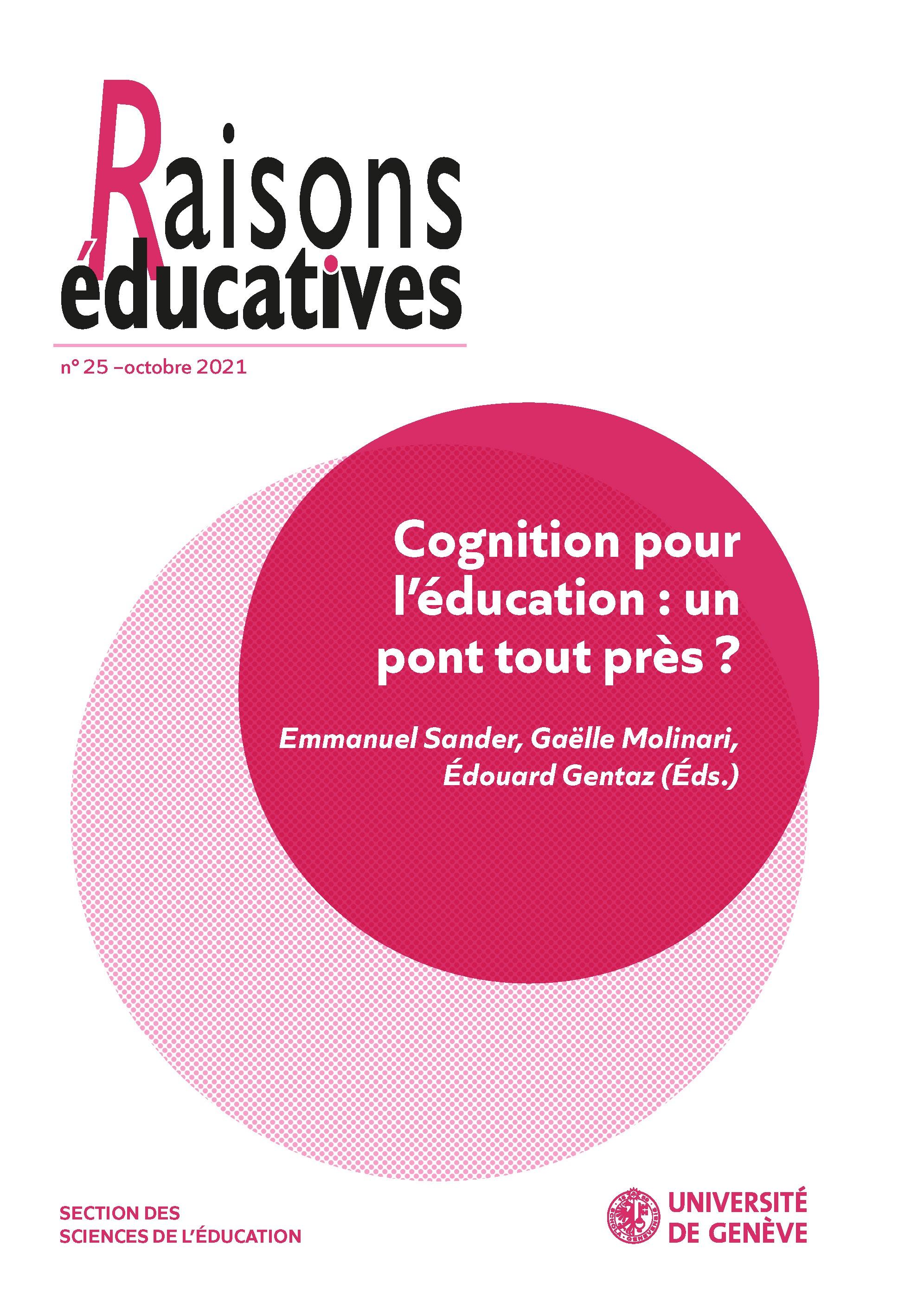 Sciences cognitives et éducation : des convergences possibles, nécessaires ?