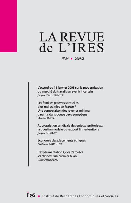 43afdb28150 L accord du 11 janvier 2008 sur la modernisation du marché du travail   un  avenir incertain