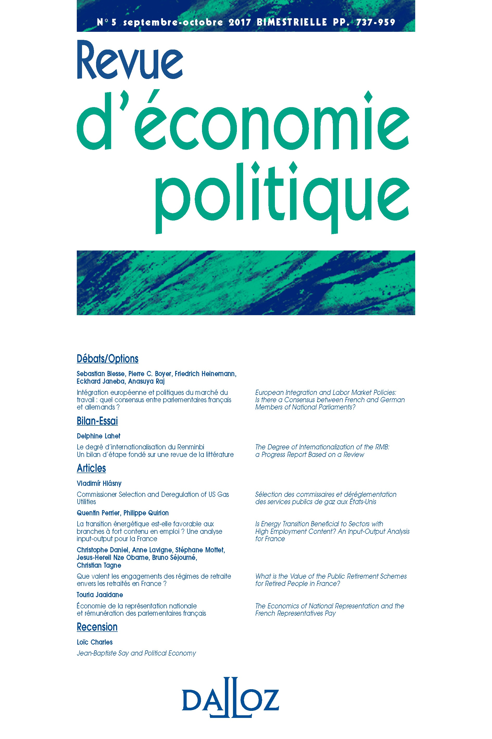 Jean-Baptiste Say and Political Economy | Cairn info