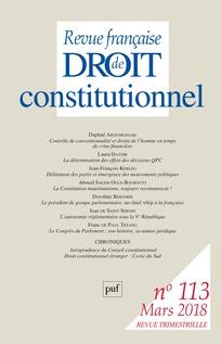 INFORMATIONS CONSTITUTIONNELLES ET PARLEMENTAIRES - EDITION FRANÇAISE