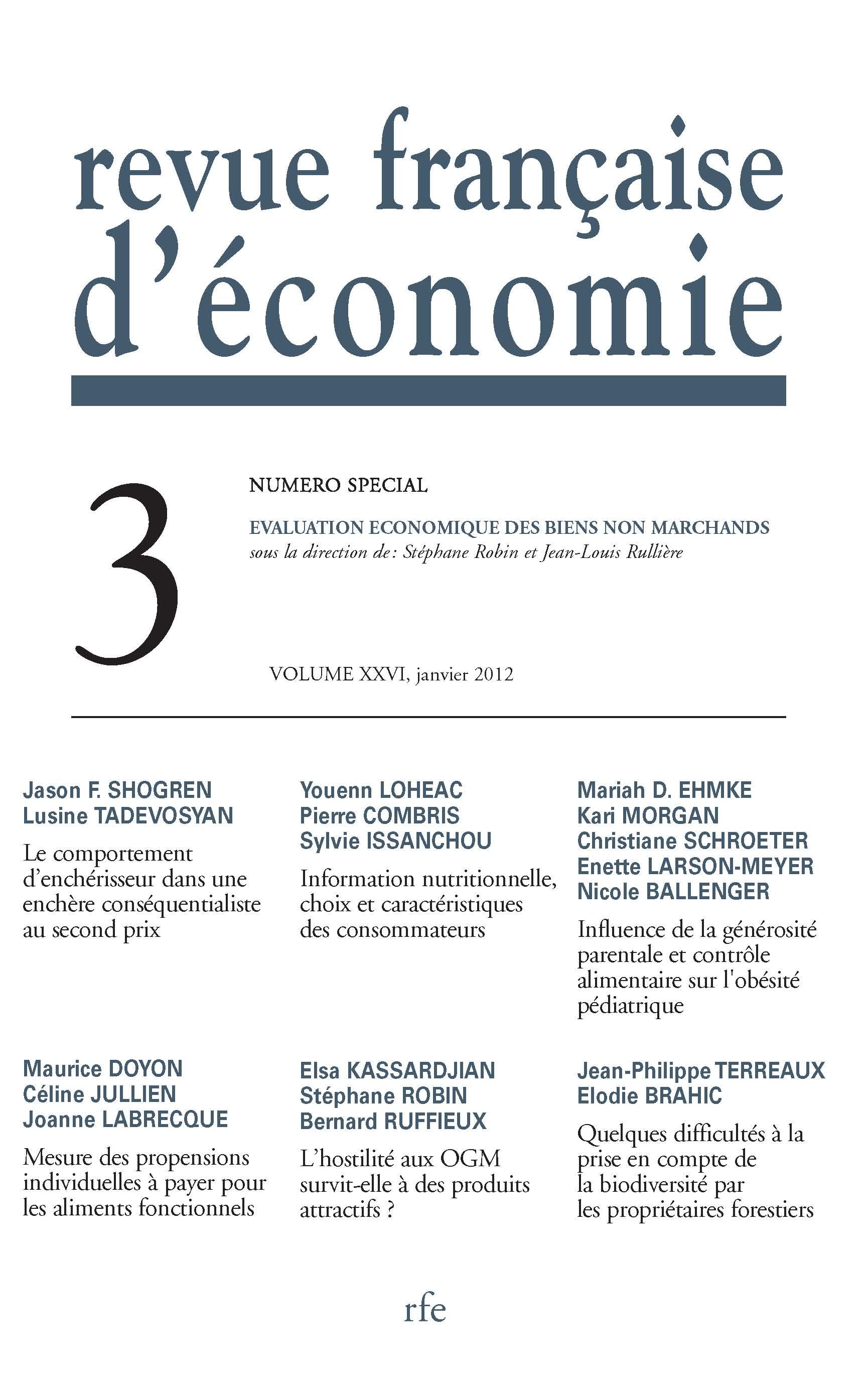 Evaluation Economique Des Biens Non Marchands Cairn Info