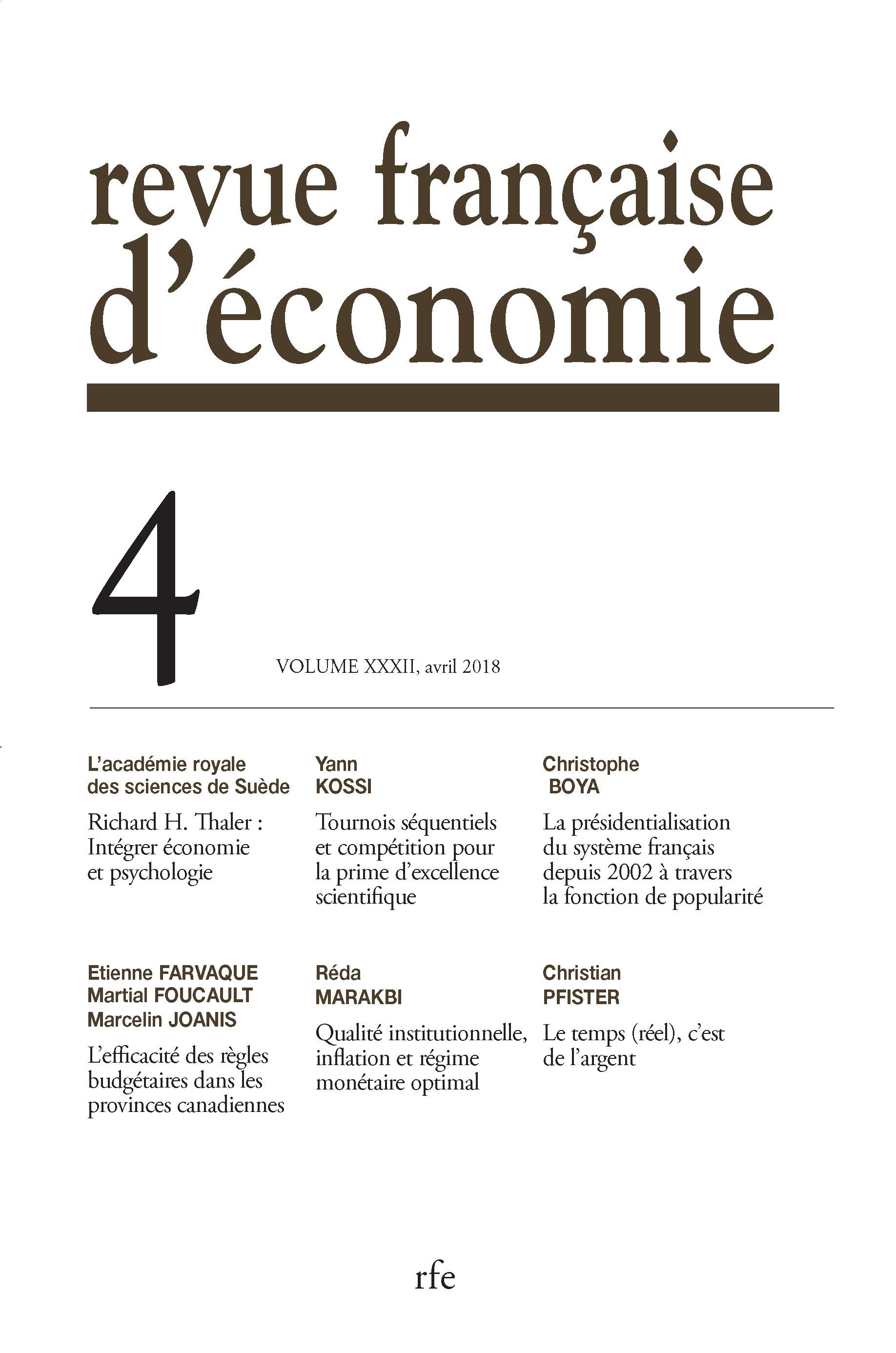 9e4b9386a14a Richard H. Thaler. Intégrer économie et psychologie   Cairn.info