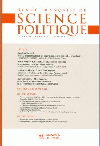 Médiatisation de l' économie et fabrication de la popularité du président français (2007-2010)