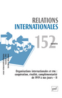 Organisations internationales et ONG