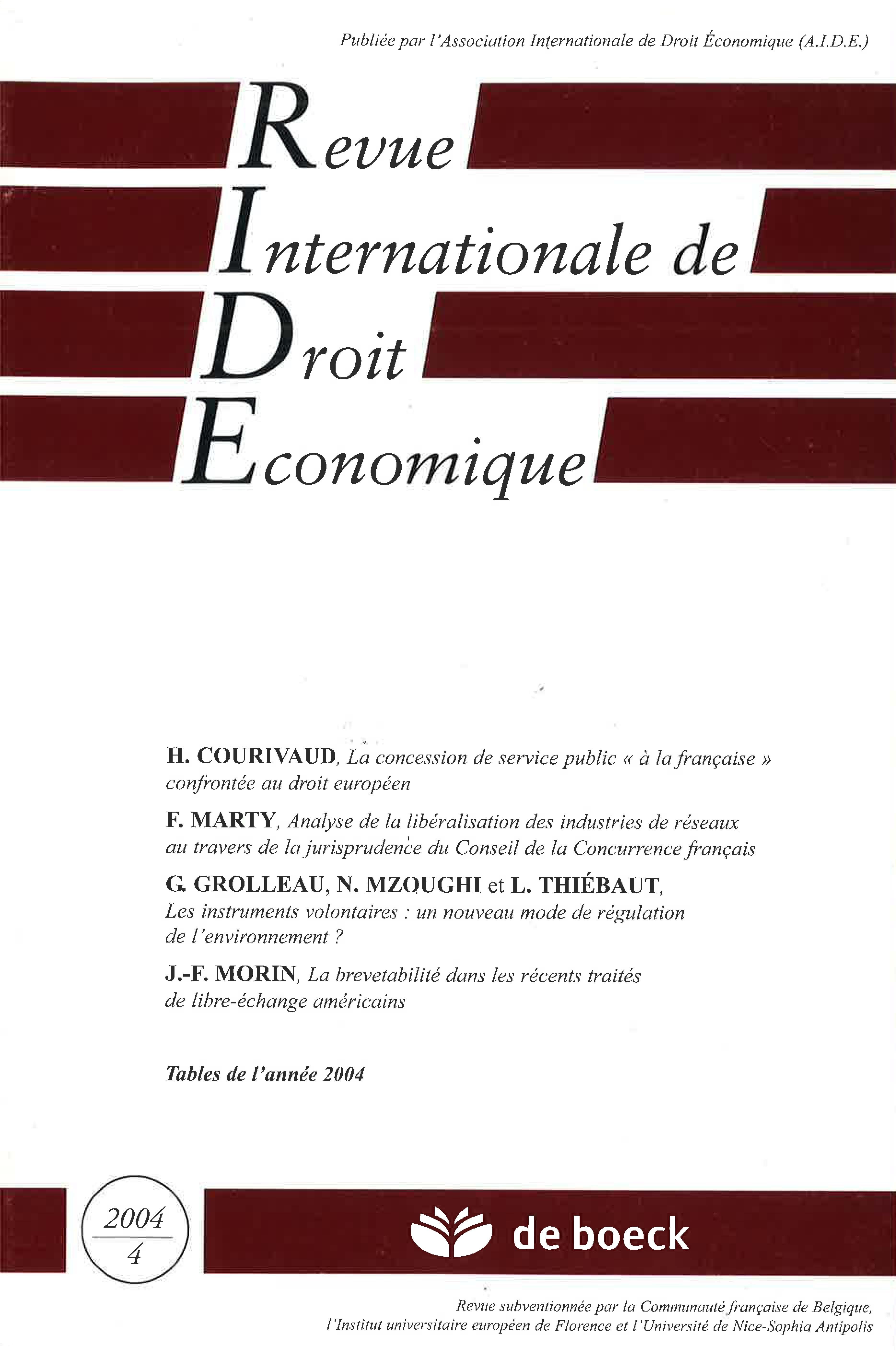e1f19501e468 La concession de service public « à la française » confrontée au droit  européen   Cairn.info