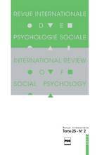 Revue internationale de psychologie sociale 2012/2