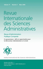 Revue Internationale des Sciences Administratives 2005/1