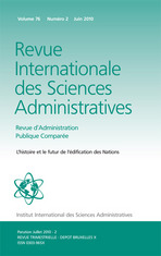 Revue Internationale des Sciences Administratives 2010/2