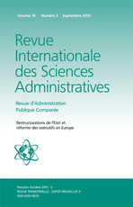 Revue Internationale des Sciences Administratives 2010/3