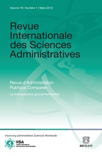 Revue Internationale des Sciences Administratives 2012/1