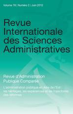 Revue Internationale des Sciences Administratives 2012/2