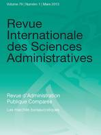 Revue Internationale des Sciences Administratives 2013/1