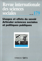 Revue internationale des sciences sociales  2004/1
