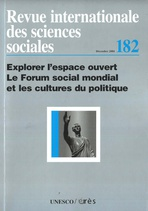 Revue internationale des sciences sociales  2004/4