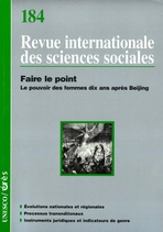 Revue internationale des sciences sociales  2005/2