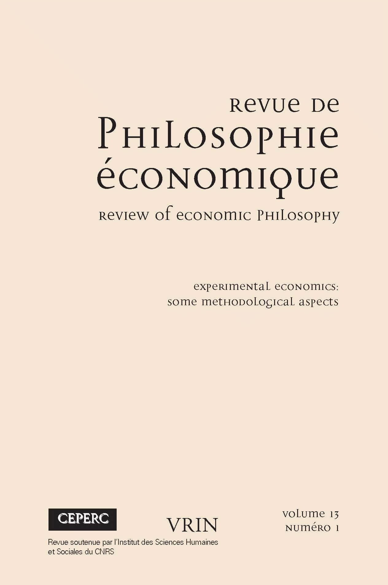 the experimental method in economics old issues and new