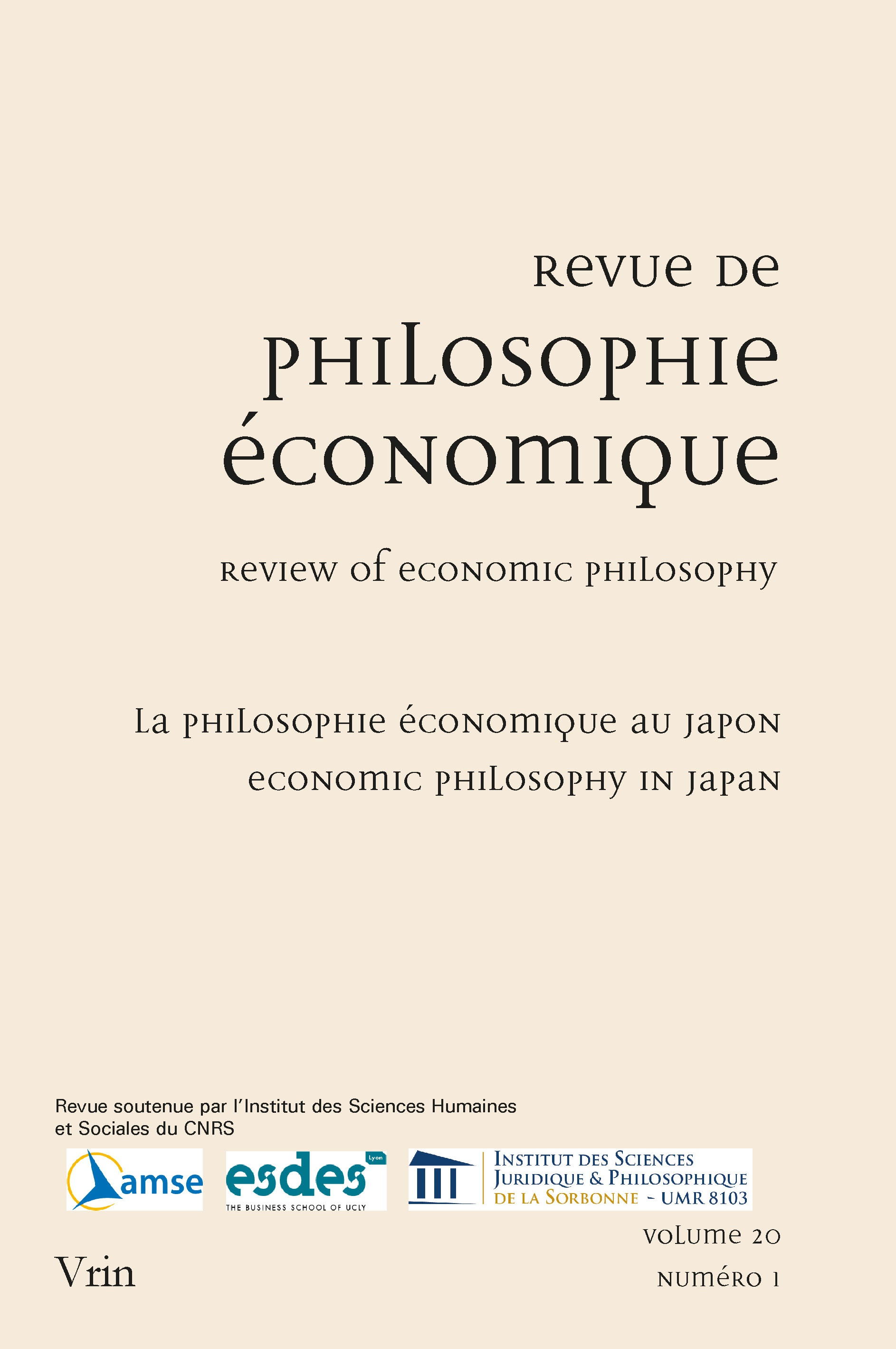 Japanese Economic Philosophy An Introduction Cairn Info