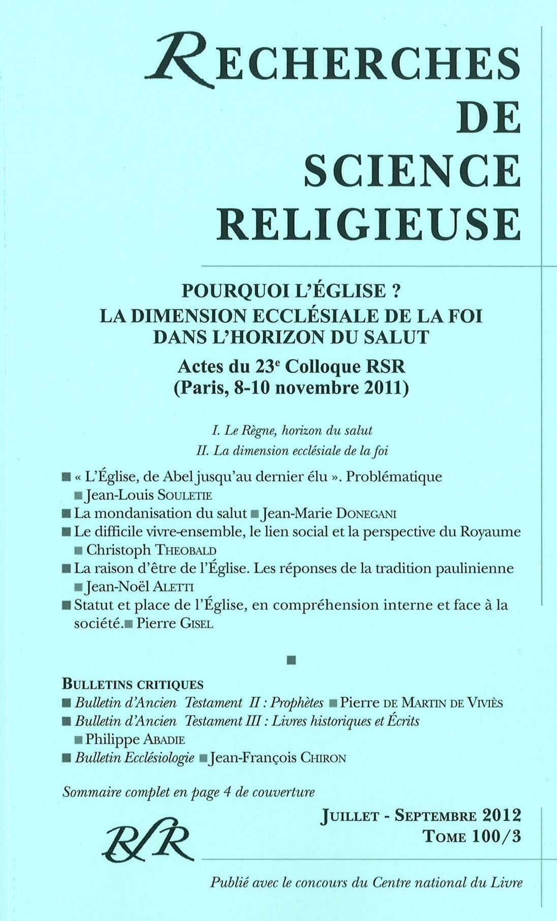 Bulletin D Ancien Testament Ii Prophetes Cairn Info