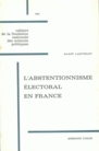 L'abstentionnisme électoral en France