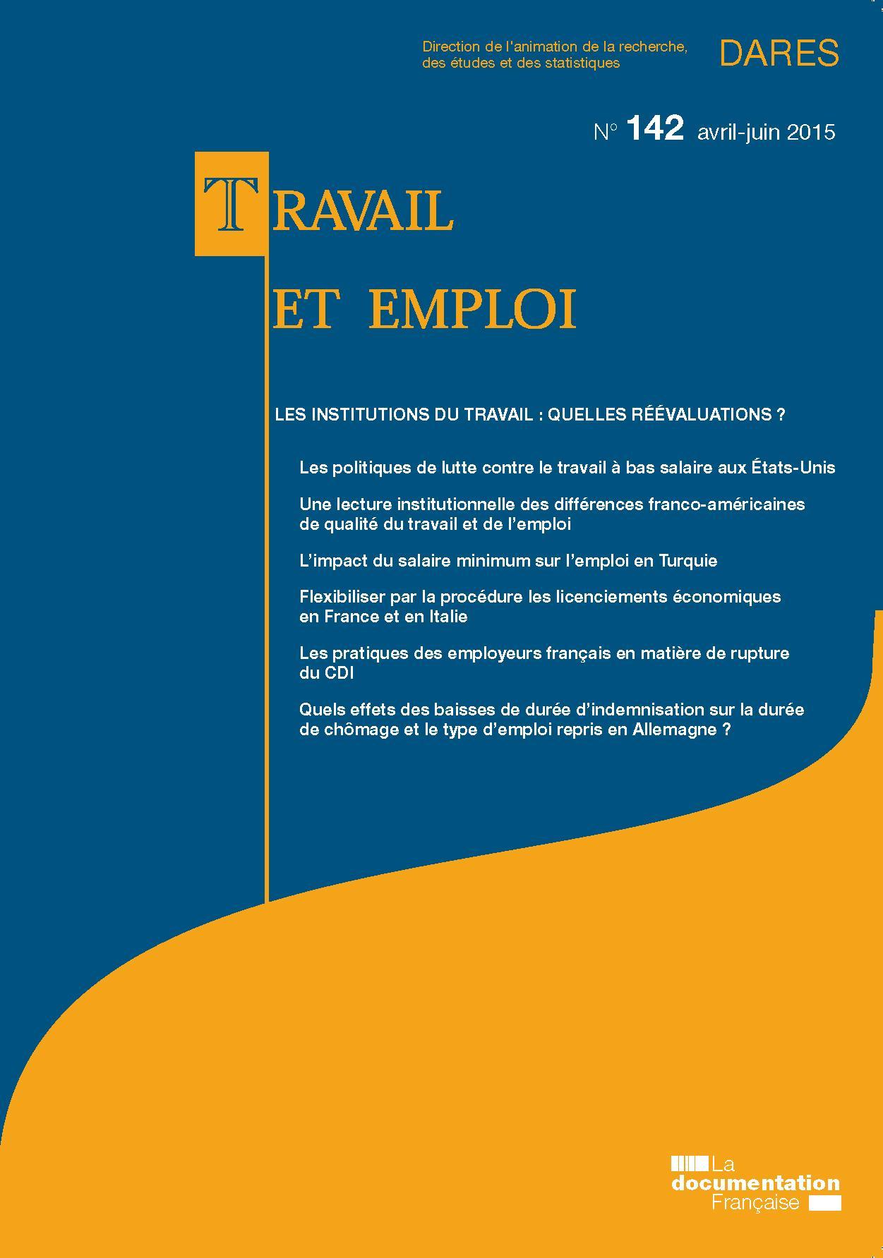 L Impact Du Salaire Minimum Sur L Emploi Dans Les Pays En Developpement Cairn Info
