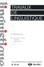 Travaux de linguistique 2001/1-2