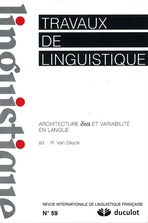 Travaux de linguistique 2009/2