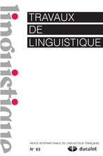 Travaux de linguistique 2011/2